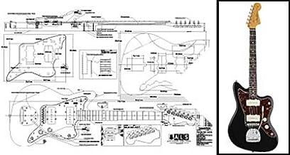 Plan de Fender Jazzmaster guitarra eléctrica – escala completa ...