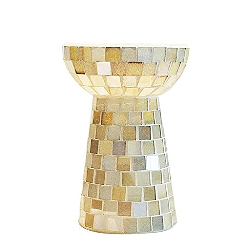ZLHP Florero de Cristal de la decoración del florero de la Botella de Vino del Mosaico Florero de la encimera