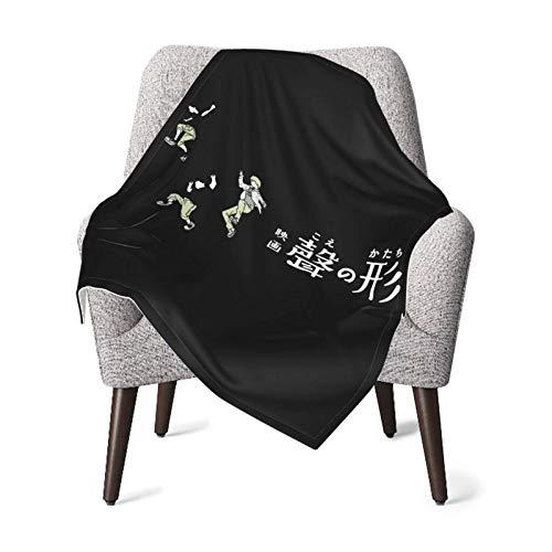 Chunwei Babydecke Koe No Katachi Eine stille Stimme Babydecke Superweiche Bedruckte Decke Empfangsdecke für Jungen Mädchen, Kinderwagen, Kinderbett, Neugeborene, Empfangen