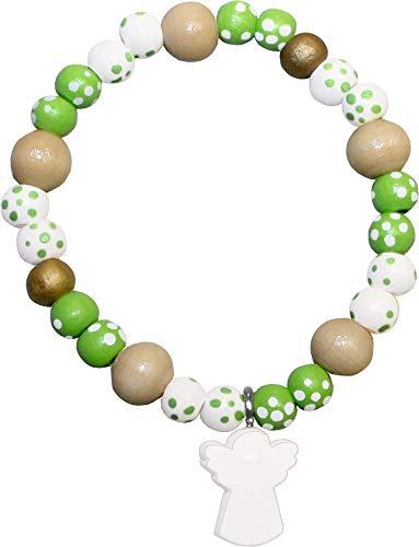 Armband - Schutz und Segen: Holzperlenarmband mit Schutzengelchen