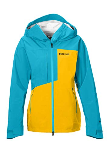 Marmot M. Europe, it Sporting Goods, 9IIY5 Wm s Huntley Jacket Giacca Impermeabile, Gaccia A Vento, Pioggia, Hardshell, Antivento, Impermeabile, Traspirante, Donna, Solar Enamel Blue, S