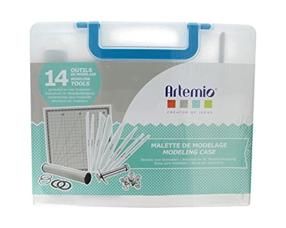 Artemio Case of 14?Modeling Tools, Plastic, Multicoloured, 32.5?x 5?x 27?cm
