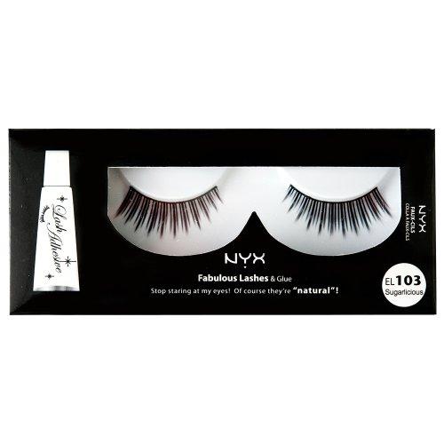 NYX Fabulous Eye Lashes, Sugarlicious, 0.544 Ounce