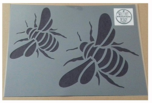 Solitarydesign Shabby Chic Stencil Bumble bee 2 sizes Rustic Mylar Vintage A4 297x210mm furniture wall art