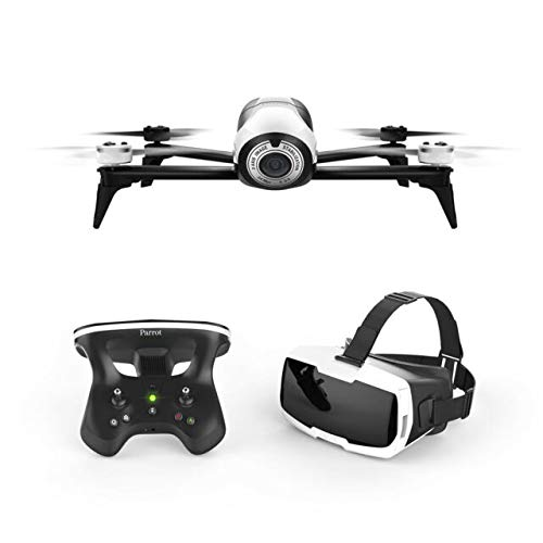 Parrot BeBop 2 Drone with Skycontroller 2 JoyStick & FPV Cockpit Glasses (White)