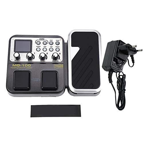 【𝐎𝐟𝐞𝐫𝐭𝐚𝐬 𝐝𝐞 𝐁𝐥𝐚𝐜𝐤 𝐅𝐫𝐢𝐝𝐚𝒚】 Pedal de Efectos de Guitarra, EU Plug 58 Pedal de Efectos de Guitarra eléctrica multiefectos, múltiples interfaces para Reproductor de CD MP3