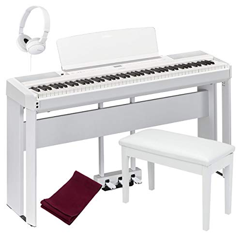 Cheapest Price! Yamaha P515WH 88-Key Digital Piano White bundled with the Yamaha L515WH Piano Stand,...