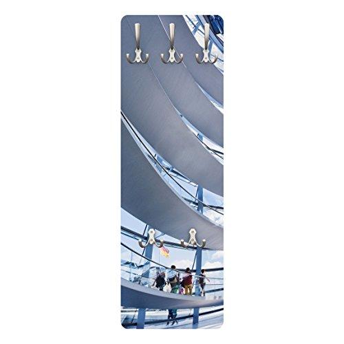 Apalis 79060 Wandgarderobe Im Berliner Reichstag | Design Garderobe Garderobenpaneel Kleiderhaken Flurgarderobe Hakenleiste Holz Standgarderobe Hängegarderobe | 139x46cm