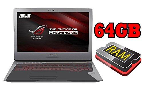 ASUS ROG G752 - 256GB SSD + 1TB - 64GB RAM - WINDOWS 10 - 44cm (17.3