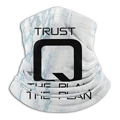 Q Anon Trust The Plan Neck Gaiter Tube Mask Headwear, Motorcycle Face-Mask Face Scarf, Balaclava Black