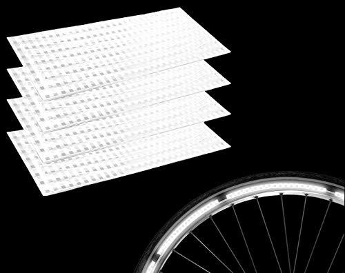 Lucky Humans® - 32x Hochwertige Premium Fahrrad Reflektoren Sticker, Fahrrad Aufkleber- Reflektorband selbstklebend, auch für Reflektor Schulranzen, Helm, Kinderwagen, reflektierend, STVO zugelassen