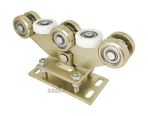 ZAB-S Laufwagen (Code:WR-8M-80/4) Laufrolle Profilmaße:80x80x4 Gartentor Schiebetor Rolltor (WR-8M-80/4)
