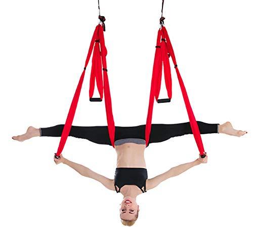 Grxin Yoga-hangmat van zijde, schommel voor yoga, zwaartekracht-effect, omkeringsoefeningen, verbeterde flexibiliteit en sterkte van de basis – accessoires voor montage inbegrepen.