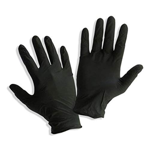 Safe Heal - Black Powder Free- Nitrile- Non Sterile Exam Gloves, Box/100- FDA Approved (Medium (100 Count))