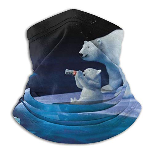 Face Mask Coca Cola Polar Bears Mouth Cover Balaclava Headwear for Dust Wind Sun Protection Neck Warmer Headband Mask