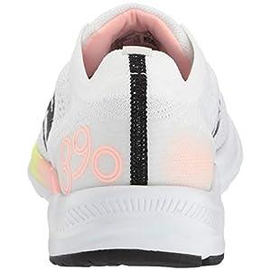 New Balance Women's 890v7 Running Shoe, White/Guava GLO/Bleached Lime GLO, 7.5 B US