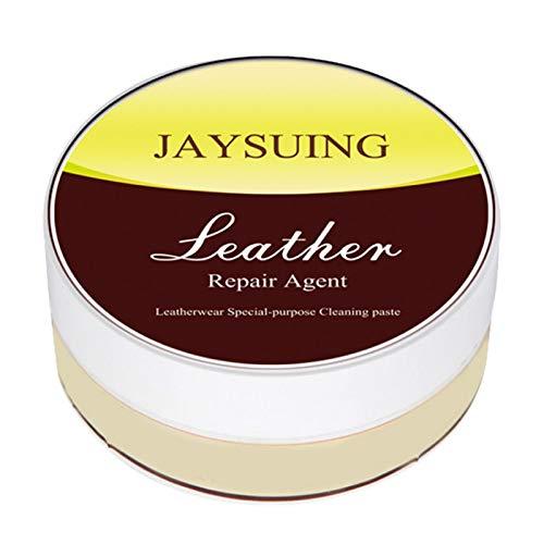 rethyrel Limpiador de piel para reparación de piel – Pasta de limpieza de piel crema herramienta de reparación para sofá, asiento de coche, bolsos, kit de cuidado de muebles de cuero