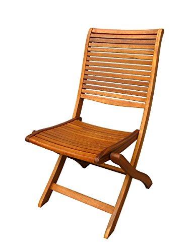 Legno&Design Fauteuil extérieur Jardin sans accoudoirs en Bois d'acacia Massif