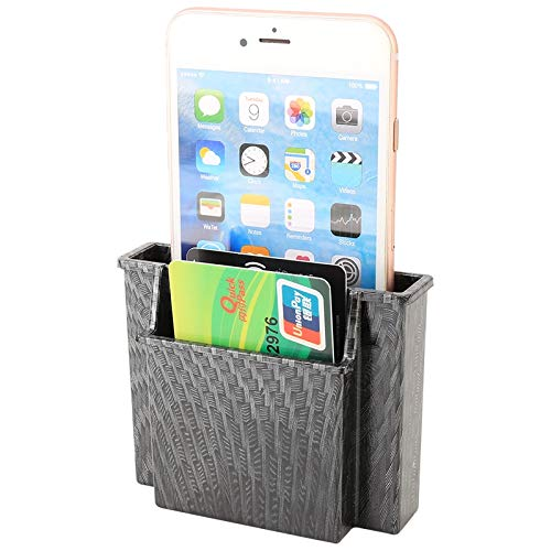 Coche del teléfono móvil portátil de la caja de almacenaje de tarjeta Alta calidad (Color : Grey)