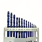 Set di 13 punte elicoidali per trapano HSS, in acciaio al cobalto M35, ad alta velocità, in acciaio HSS-CO, 1,5 mm - 6,5 mm x 0,5/3,2/4,8 mm, per attrezzi per forare legno, metallo e plastica