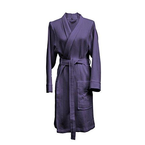 Heckett Lane Badjas Katoen Wafel Kort M Vintage Purple