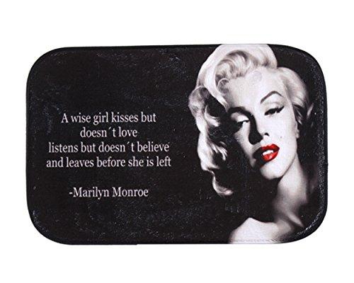 iLove EU, zerbino in velluto corallo, 40 x 60 cm, dea sexy Marilyn Monroe, nero