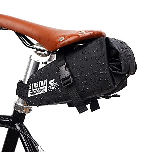 Senston Borsa da sella per bici sotto la sella, punzone per sella della bicicletta impermeabile per ciclismo su strada di montagna
