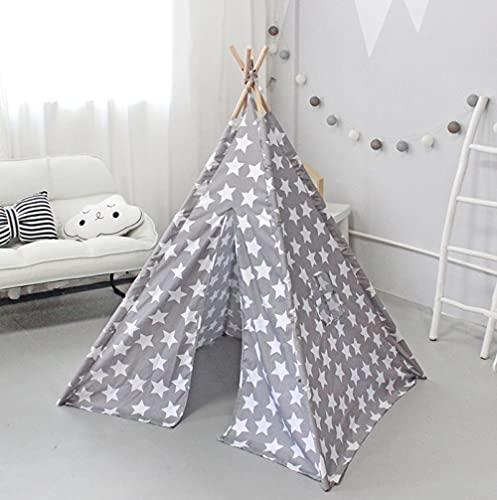 Fnho Tienda Tipi Interior y Exterior para niños,Castle Carpa Toy Play Tent Portable Plegable,Casa de Juegos India, Tienda de campaña para niños de Interior-Old_1.1 x 1.1 x 1.4M