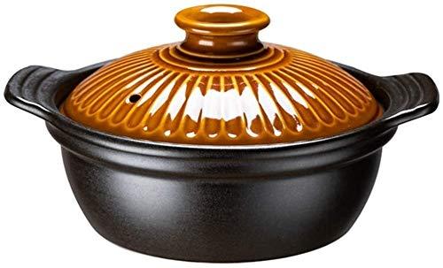 WANGQW Pote de cazuela de cerámica Antiadherente, Stockpo Casserole Stef Stef Stef Temperatura de Alta Temperatura Pote de Avena con Olla de Tapa Adecuada para la Estufa de Gas (Size : 1200ml)