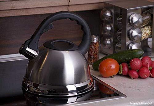 3 Liter Flötenkessel Whistling Kettle Induktion Teekanne Wasserkanne Wasserkessel Edelstahl