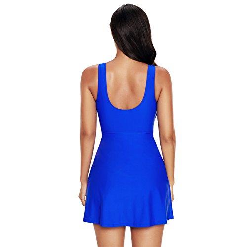 TieNew Bañador con Falda Trajes de Una Pieza Bikini Tallas Grandes para Mujer, 2018 Mujer Traje De Baño De Talla Grande Impresión Bañador con Falda Traje de baño de Una Pieza Plus Talla para Mujer