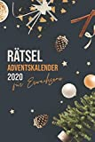 Rätsel Adventskalender für Erwachsene 2020: Riesiger Rätselspaß - Labyrinthe, Sudoku, Rätselaufgaben, Logikaufgaben uvm.