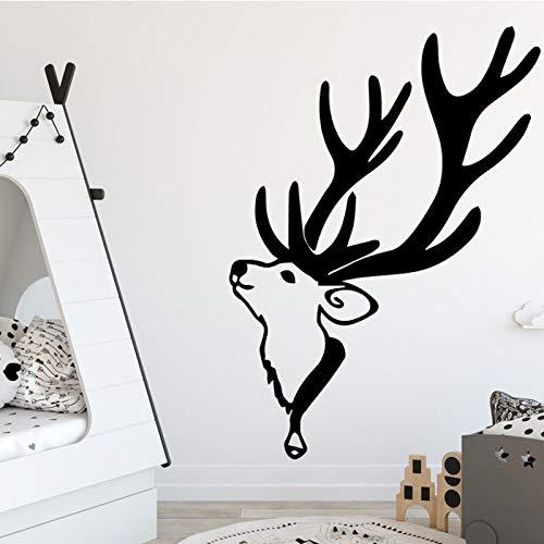 Kinderheim Dekoration Cartoon Bier Giraffe Wandaufkleber Wohnzimmer Vinyl wasserdicht Wandkunst Aufkleber abnehmbare PVC dekorative Wandaufkleber A3 L 43cm x 59cm