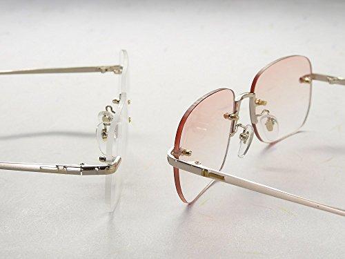 累進多焦点遠近両用老眼鏡(境目のない遠近両用メガネ) TK-104 2色 7度数 (+2.50, ブラウンハーフレンズ)