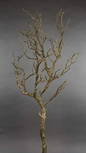 Seidenblumen Roß Großer Dekoast/Dekozweig 95cm braun YF künstlicher AST Zweig Kunststoff