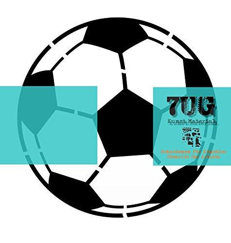 7UG Schablone, Fussball, 19,4 cm Durchmesser, DIN A4, Bundesliga