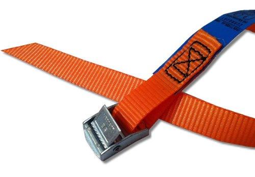 4X Befestigungsriemen ideal zur Befestigung am Fahrradträger, Klemschloss Gurte, Spanngurte, Farbe orange, iapyx®