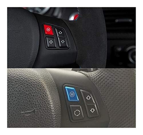 ZHIXIANG Dirección de Red de Deportes Azul Interruptor de Ruedas M Modelo Botón de Ajuste for el 1 de BMW Serie 3 E81 E82 E87 E88 E90 E92 E93 2004-2011 M1 M3 2007-2013 (Color : Red)