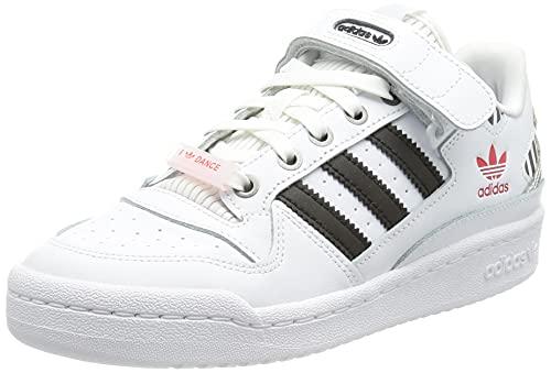 adidas Damen Forum Low W Gymnastikschuh, FTWR White Core Black True Pink, 37 1/3 EU