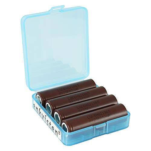 4 LG HG2 18650 3000 mAh Akkus INR für E-Zigarette Batterien Akku Dampfen Akkus für dampfer E-Zigarette + Akkubox