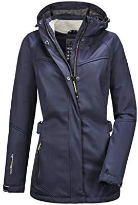 killtec Womens N/ärke Wmn Softshell Prk Softshell parka with zip-off hood