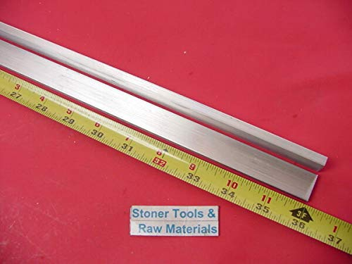 """TAKAZOON Metal Sheets & Flat Stock Supplies For2 Pieces 1/4"""" X 3/4"""" ALUMINUM 6061 FLAT BAR 36"""" long Solid T6 .25 Mill Stock for DIY Craft Tool"""