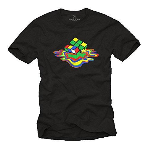 Sheldon Cooper Tee Shirt Homme Cube - Big Bang Theory Noir L