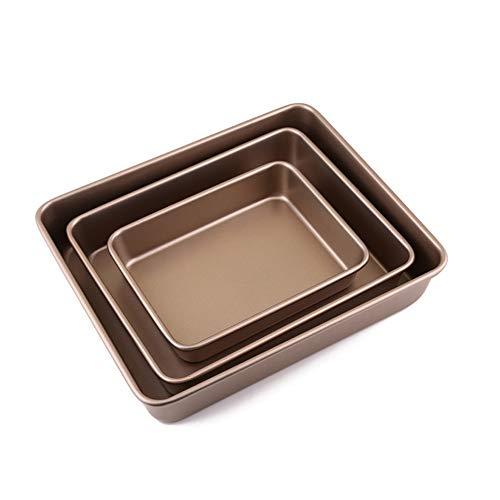 Ensemble De Plaque De Cuisson, Moule à Gâteau, Carré Plaque à Pâtisserie, Revêtement Antiadhésif, Lavable Au Lave-vaisselle Et Facile à Nettoyer Cuisine Ustensiles De Cuisson (3pcs)
