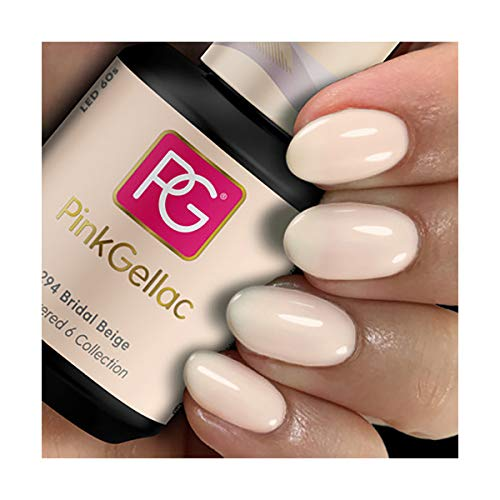 PINK GELLAC Shellac Gel Nagellack 15 ml für UV LED Lampe | 294 Bridal Beige | Gel Nail Polish for UV Nail Lamp | LED Nagel Lack Gellack Nagelgel