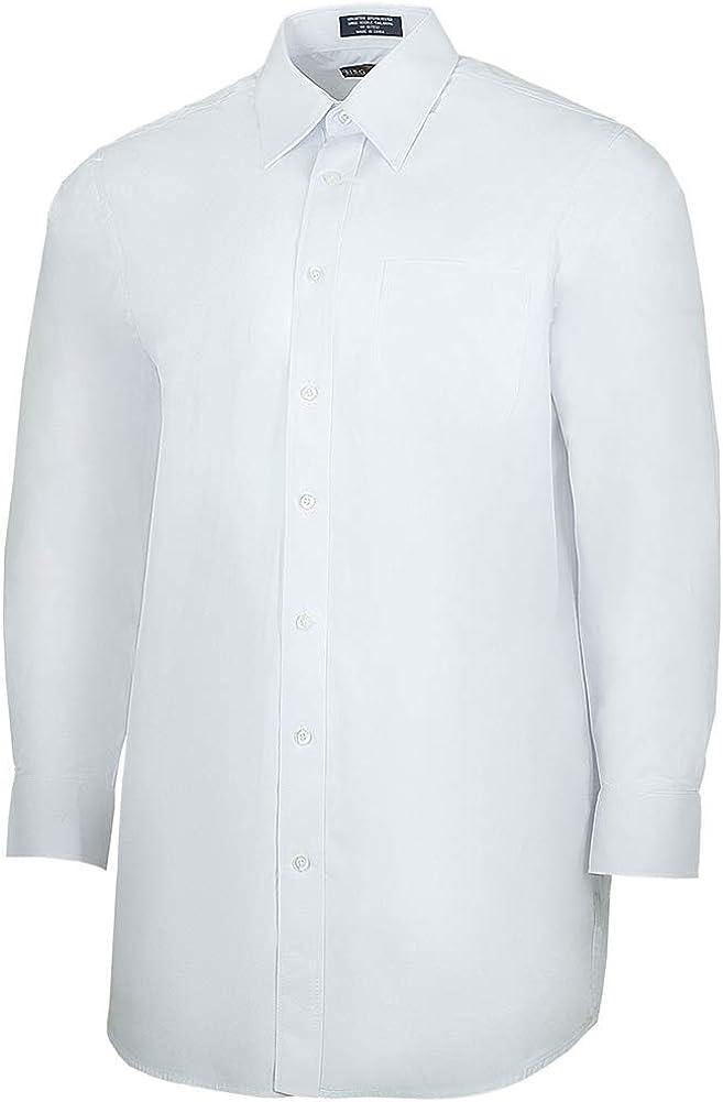 Henry Segal Men's Poly/Cotton Broadcloth Long Sleeve Dress Shirt