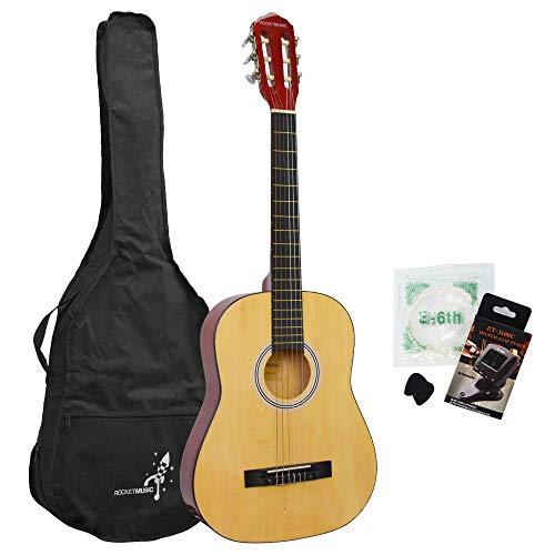 Rocket Music CG34PACK Konzertgitarre-Set Klassische Spanisch Gitarre 3/4