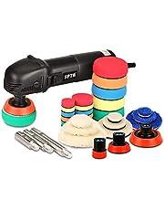 SPTA HROMPS3AC Mini-polijstmachine, 780 W polijstmachine met 6 variabele snelheden, zijgreep, 25/50/80 mm polijstschijf, polijstspons/wolschijf/schuurpapier, voor het polijsten van auto, meubels