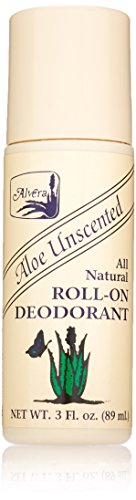 Alvera, All Natural Roll-On Deodorant, 89ml Bottle - Aloe Unscented