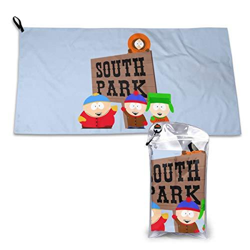 Zachary Sherman South Park Logo Handtücher schnelltrocknend mit Karabinerhaken mit Tasche und Sporthandtuch schnelltrocknend 40 x 80 cm